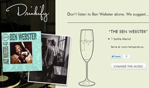 Ben Webster sur drinkify