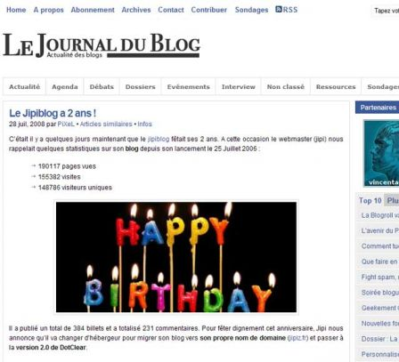 Journal du Blog