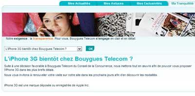 iPhone chez Bouygues Télécom