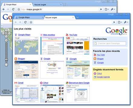 Le navigateur de Google : Chrome