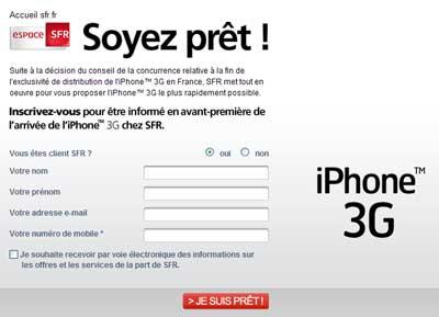 espace SFR  iPhone 3G