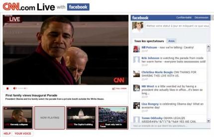 CNN live avec facebook