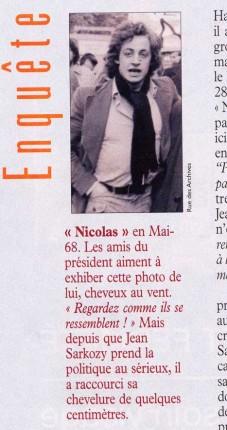 Nicolas Sarkozy en mai 68 ?
