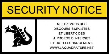 Notice de sécurité by T Nitot