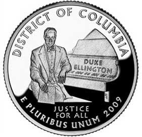 Pièce à l'effigie de Duke Ellington
