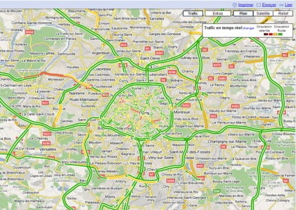 trafic routier en temps r el avec google maps le jipiblog. Black Bedroom Furniture Sets. Home Design Ideas