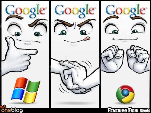 Genèse du logo de Google Chrome