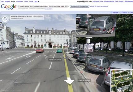 Une vue de Pau dans Google Street View