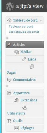 Page admin WordPress et Firefox 3.5.2