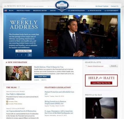 Le site de la Maison Blanche
