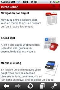 Opera mini iphone nouvelles fonctions