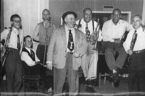 Lafitte avec Hugues Panassié et Mezz Mezzrow