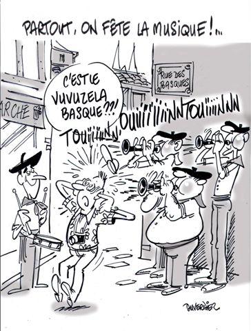 """Fete de la musique et """"vuvuzelas"""" basques à Bayonne"""