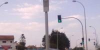 Radar de feu rouge sur le BAB à la sortie de Biarritz