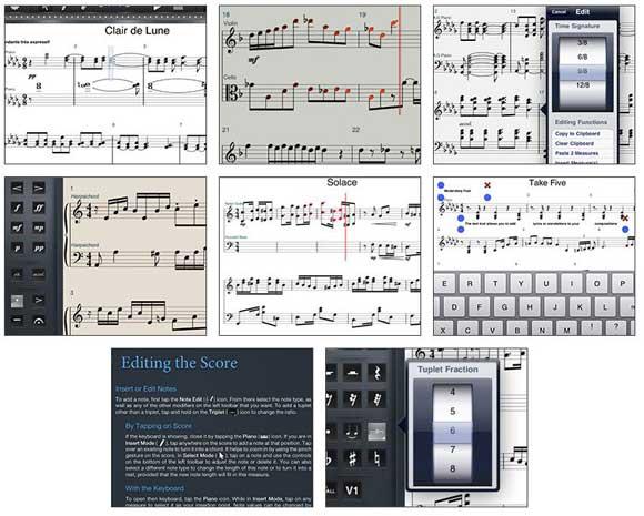 Symphony pro partitions sur iPad