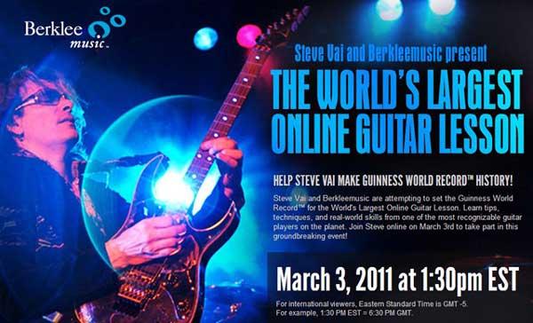 Un cours de guitare en ligne avec Steve Vai