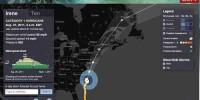 trajectoire hurricane Irène
