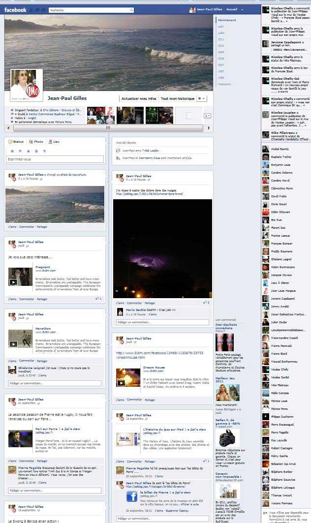 La nouvelle future interface du profil Facebook