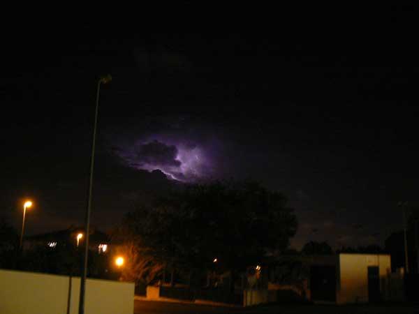 éclair d'orage dans les nuages