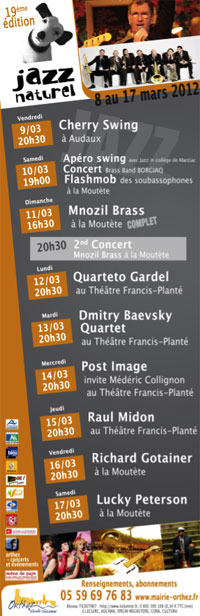 Jazz Naturel 2012 Orthez - le programme