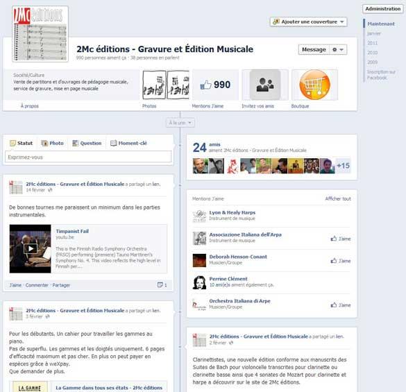 Aimez la page de 2Mc éditions sur Facebook