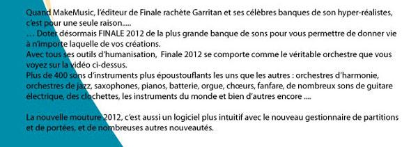 Finale en français avec sons Garritan