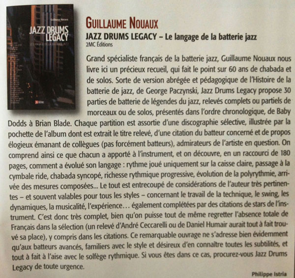 article de Batteur magazine