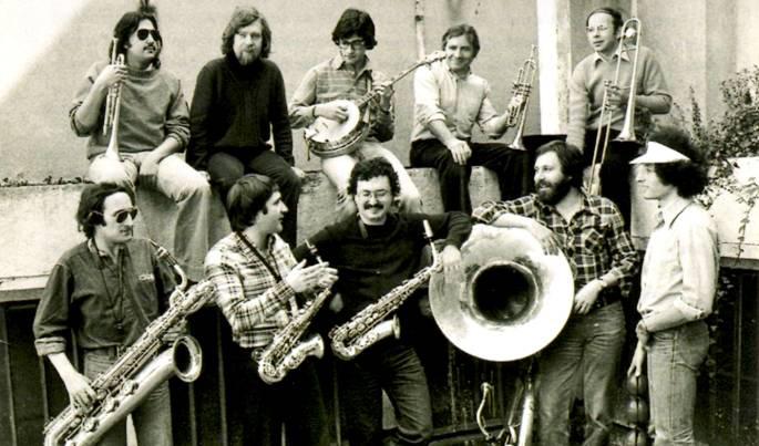 La bande de 1976: en haut: P.Artero, Ph.Baudoin,L.Benhamou, D.Barda. En bas, A.Villeger, D.Huck, M.Richard, G.Gervois, D.Obadia