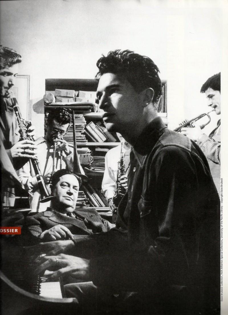 Dave Brubeck en 1946 avec Darius Milhaud