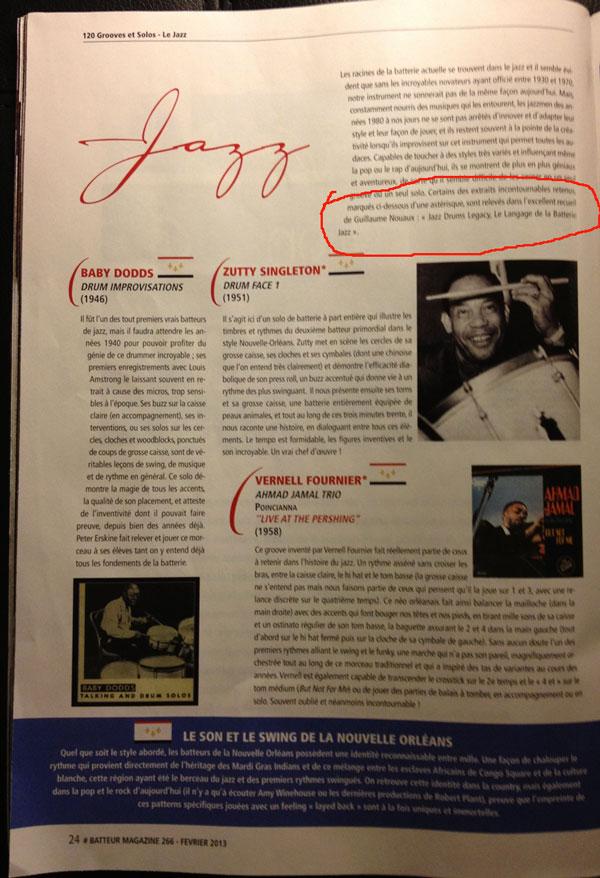 Batteur Magazine 266 fevrier 2013