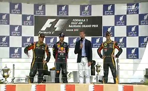 podium Bahrein