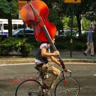 comment transporter sa contrebasse à vélo