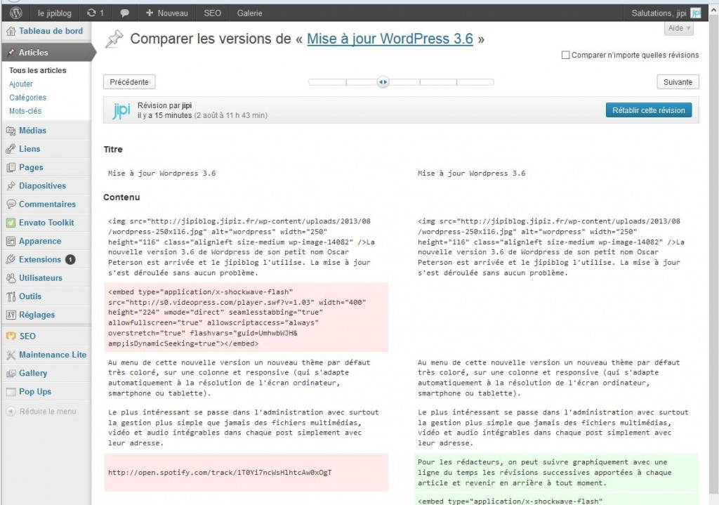 révisions-Wordpress3.6
