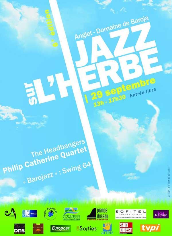 Affiche du festival Jazz sur l'herbe 6ème édition à Anglet