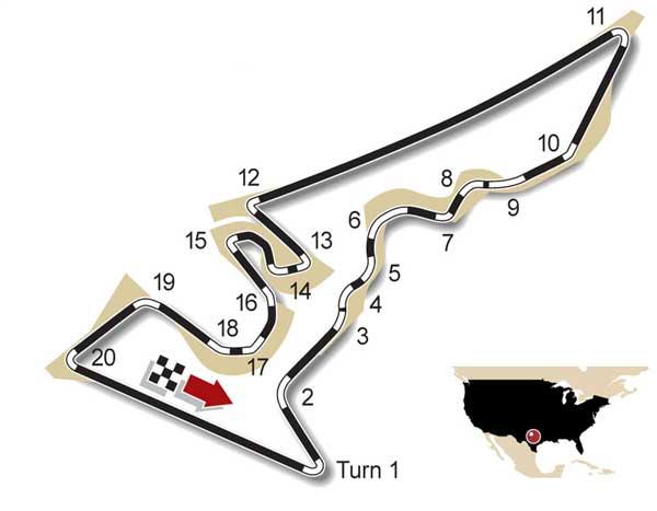 F1 circuit Austin USA