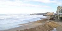 Après les fortes vagues Biarritz au matin du 07 01 14