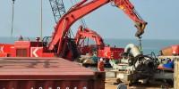 Démantèlement du cargo Luno échoué à Anglet