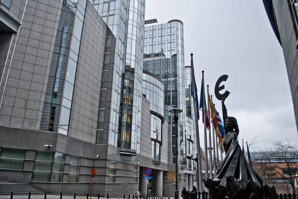 Le Parlement européen et l'euro à Bruxelles