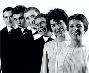 """Avec les """"double six"""" en 1961 (2ème à gauche)."""
