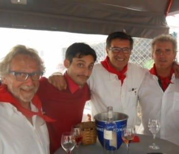 Patrick Quillart, Pablo Campos, Pierre Fagalde, et Jean Duverdier.