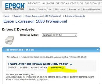 Scan-driver-twain-1680-w10