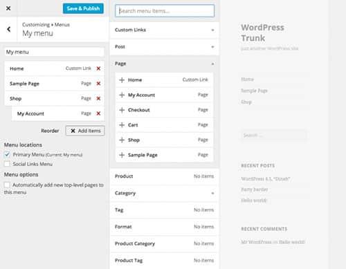 Wordpress4.3-nouvelle-gestion-des-menus