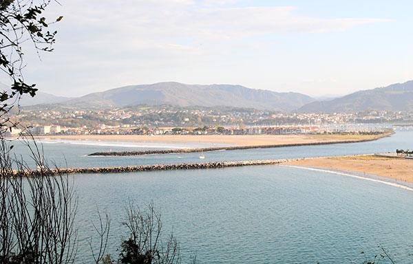 Sur les pentes du Jaizkibel, la Bidassoa et la baie d'Hendaye