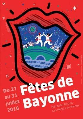 Affiche fêtes de Bayonne 2016