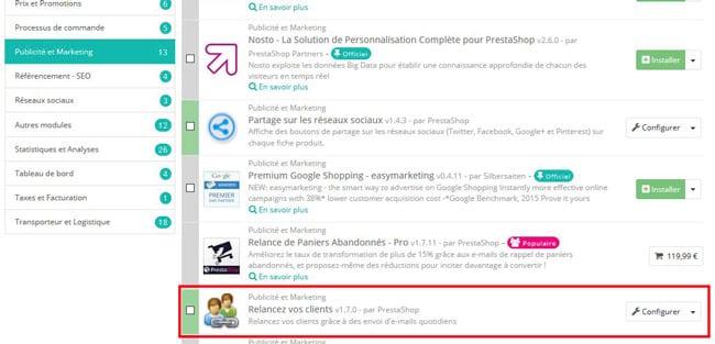 module-prestashop-relance-clients