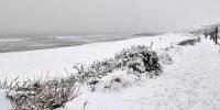 Matin de neige sur la Côte Basque et Biarritz