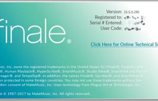 Finale compatible avec macOS Mojave